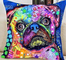 Funky Dog Jute Cushion Cover