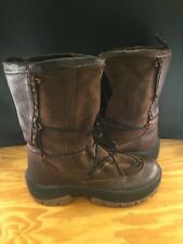 ULU LEATHER & SHEEPSKIN ANKLE BOOTS SHOE SIZE MEN'S SIZE 10 PULL ON MOCCASIN