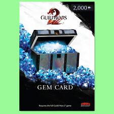 GUILD WARS 2 2000 Gem Card KEY Karte - 2000 Edelsteine einlösen code Für GW 2 DE