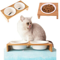 Cat Cage Dog Feeding Stand Bowl Feeding Bowls Pet Feeder Water Food Dish
