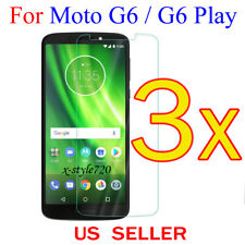 3x Clear LCD Screen Protector Guard Cover Shield For Motorola Moto G6 / G6 Play