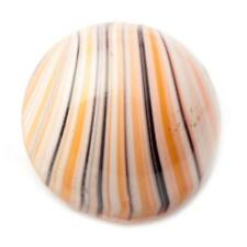 (1) 18mm Czech Vintage multicolor striped crystal givre domed art glass button