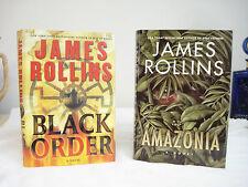 Two James Rollins Books BLACK ORDER / AMAZONIA 1st / 1st HC DJ Thrillers