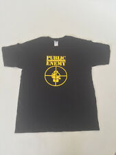 Public Enemy T Shirt Black and Gold Classic Hip Hop tee (Multiple Sizes)
