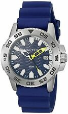 NEW HOT NAUTICA Men's Sport Blue Dial Blue Silicone Strap Date Watch NAD12527G