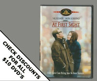 AT FIRST SIGHT DVD Horror Movie LIKE NEW WITH INSERTS MIRA SORVINO VAL KILMER