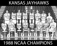 Kansas Jayhawks - 1988 NCAA Basketball Champions, 8x10 B&W Team Photo