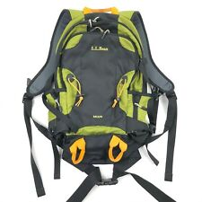 LL Bean Men's Escape Hiking Trail Backpack Black Green Orange