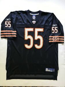 RARE Authentic Vintage Chicago Bears Lance Briggs Reebok NFL On Field Jersey XXL