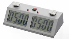 CHESS GAME CLOCK Color Silver for Blitz & Tournament Professional ZMF PRO