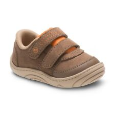Stride Rite Kyle Tan Brown Shoes Sneakers Baby Infant Boy Size 4 NEW