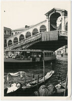 Venedig, Rialtobrücke, Orig.-Foto von 1958