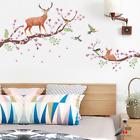 Wall Sticker Self-adhesive Tree Flower Deer Decoration Living Room Bedroom Home