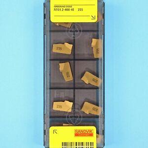 10 SANDVIK N151.2-400-4E Grade 235 CNC Lathe Carbide Parting & Grooving Inserts