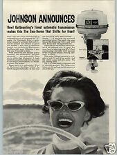 1962 PAPER AD 2 PG Johnson Outboard Motor Boat Engine 18 10 5.5 HP Sea Horse