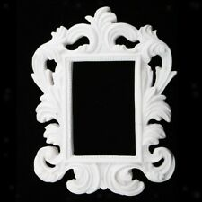 5 pieces x White Ornate Baroque Style Resin Mini Photo Frame Wall bomboniere