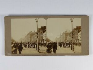 Arrival Of Fair At Newcastle - Stereoview c1890s #2