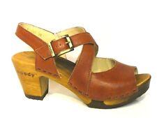 Woody Holz Schuhe Sandalen Sandaletten Elenor biegsame Sohle braun copper Leder