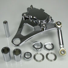 Ultima Chrome 4 Piston Caliper & Bracket for Harley/Paughco Springer Front Ends