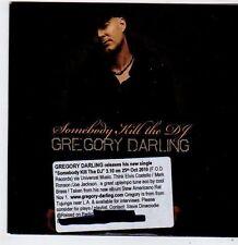 (FG998) Gregory Darling, Somebody Kill The DJ - 2010 DJ CD