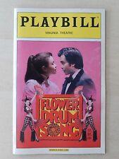 November 2002 - Virginia Theatre Playbill w/Ticket - Flower Drum Song - Salonga