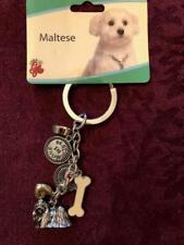 MALTESE KEY CHAIN RING