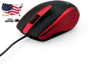 Verbatim Optical Mouse - Wired with USB Accessibility - Mac & PC Compatible