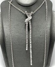.925 Sterling Silver 1.10ct Round Cut Diamonique Diamond Pendant Necklace