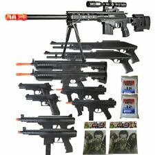 11 Gun P2589 Sniper Rifle Package - 6mm Airsoft Guns + Zombie Targets & BBs