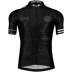 Baisky Cycling Bike Tops Cycling Jersey-Storyteller Design-Pilot Black(T2028B)