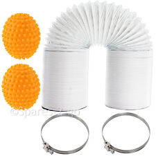 "10m Extra Long Vent Hose 4"" Pipe Balls Jubilee Clips for HOOVER Tumble Dryer"