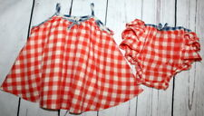 BABY GAP🌷Precious Gingham Red White Ruffes Set 🌷Baby Girl Size 6-12 Months HTF