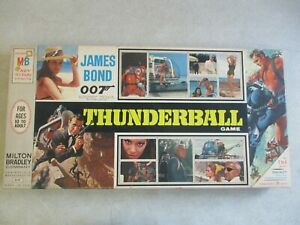 1965 JAMES BOND THUNDERBALL BOARD GAME MILTON BRADLEY COMPLETE IN ORIGINAL BOX