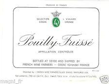 Etiquette de vin - POUILLY FUISSE  (124)