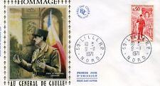 France FDC - 1° JOUR 1971 DE GAULLE - numéro Y&T  1697