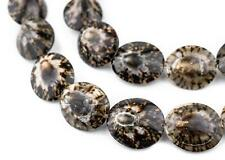 Rock Hugger Decorative Sea Shell Beads 40 Inch Strand 24mm Brown Unusual