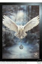 ANNE STOKES BLACK FRAMED AWAKE THE MAGIC OWL - 3D MOVING PICTURE 365mm x 465mm