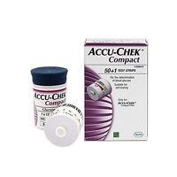 Roche Accu-Chek Compact Glucose Test Strips Box 51pcs (Expiry Date 08/2019)