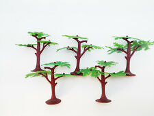 5 pcs 9cm Plastic Tree Models Diorama Prop Toy Soldiers Army Accessories