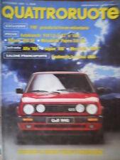 Quattroruote 407 1989 F40:provata Ferrari miliardaria.Alfa164.Inserto Fiat Uno