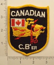 Vintage CANADIAN CB'er Canada CB RADIO OPERATOR Embroidered PATCH