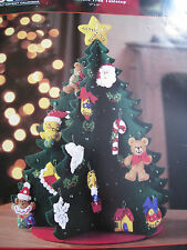 Christmas Bucilla Felt Applique Kit,3-D ADVENT TREE TABLETOP CALENDAR,84976