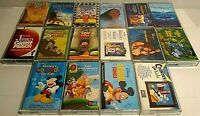 Walt Disney Cassette Tapes, Lot Of 16, Soundtracks, Sing Along, Travel Songs