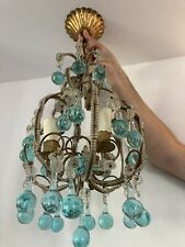 More details for vintage murano style glass chandelier