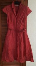 Laura Ashley Vintage Rockabilly Pinup  Red And White Polkadot Teadress Size 14