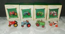 Hallmark Keepsake Miniature Ornaments Lot of 4 Antique Tractors