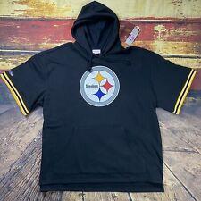 Mens 4XL M&N Pittsburgh Steelers Mitchell & Ness Short Sleeve Throwback Hoodie