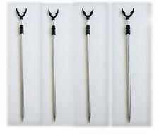 kit4 poggiacanna pesca reggicanna a forcella puntale pesca picchetto canna fondo