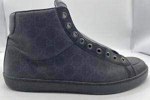 Gucci Mens Tessuto GG Sneakers Size 9.5 325371 C NO LACES High Hi Top