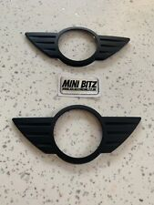 Mini One Cooper S JCW R56 Matt Black badge covers GEN 2 (06-13) Front & Rear